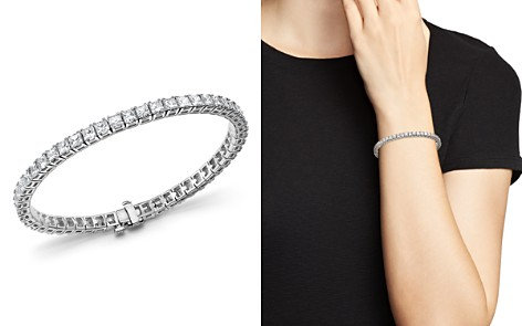 Princess-Cut Diamond Tennis Bracelet in 14K White Gold, 10.20 ct. t.w. - 100% Exclusive - Bloomingdale's_2