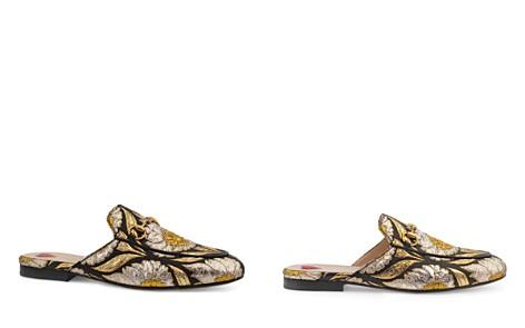 Gucci Women's Princetown Metallic Jacquard Mules - Bloomingdale's_2