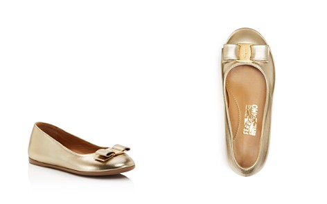 Salvatore Ferragamo Girls' Varina Mini Metallic Ballet Flats - Toddler, Little Kid - Bloomingdale's_2