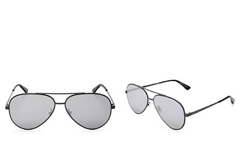 Saint Laurent Women's Classic Zero Mirrored Aviator Sunglasses, 59mm - Bloomingdale's_2