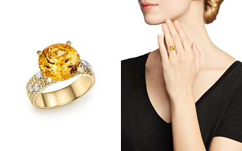 Citrine Statement Ring with Diamonds in 14K Yellow Gold - 100% Exclusive - Bloomingdale's_2