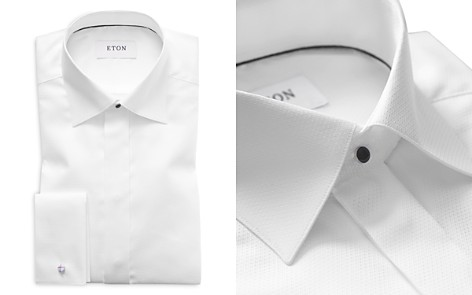 Eton of Sweden Diamond Weave Slim Fit Tuxedo Shirt  - Bloomingdale's_2