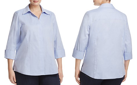 Foxcroft Plus Taylor Blouse - Bloomingdale's_2