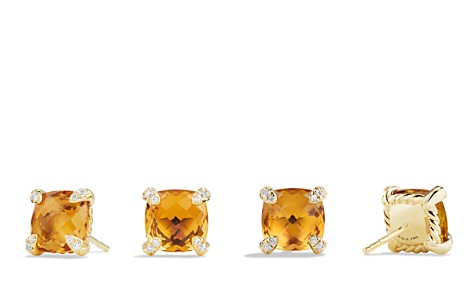 David Yurman Châtelaine Earrings with Citrine in 18K Gold - Bloomingdale's_2