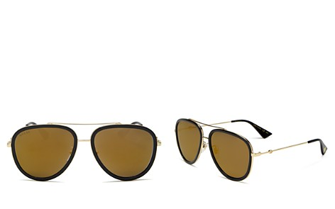 Gucci Mirrored Aviator Sunglasses, 57mm - Bloomingdale's_2