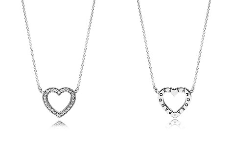 "PANDORA Sterling Silver & Cubic Zirconia Loving Heart Necklace, 14.5"" - Bloomingdale's_2"