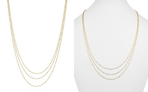 "14K Yellow Gold Multi Strand Satellite Chain Necklace, 18"" - 100% Exclusive - Bloomingdale's_2"