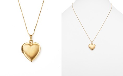 """14K Yellow Gold Heart Locket Necklace, 22"""" - 100% Exclusive - Bloomingdale's_2"""