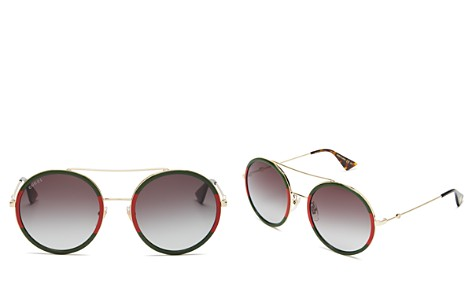 Gucci Women's Brow Bar Round Sunglasses, 56mm - Bloomingdale's_2