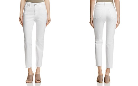 AG Isabelle Straight Jeans in 1 Year White - Bloomingdale's_2