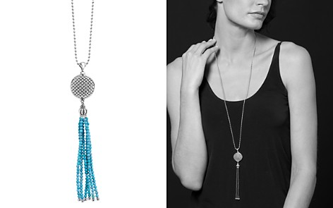"""LAGOS Sterling Silver Maya Escape Turquoise Disk Tassel Pendant Necklace, 34"""" - Bloomingdale's_2"""