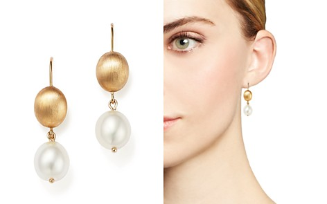 Bloomingdale's Cultured Freshwater Pearl Drop Earrings in 14K Yellow Gold, 11mm_2