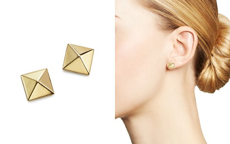 Bloomingdale's 14K Yellow Gold Medium Pyramid Post Earrings - 100% Exclusive_2