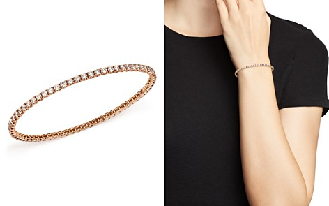 Roberto Coin 18K Rose Gold Bangle with Diamonds - Bloomingdale's_2