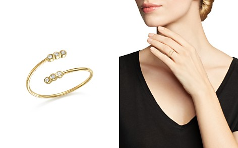 Zoë Chicco 14K Yellow Gold Bypass Ring with Bezel Diamonds - Bloomingdale's_2