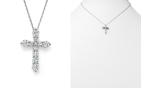 Cross necklaces bloomingdales diamond cross pendant necklace in 14k white gold 10 ct tw 100 aloadofball Choice Image