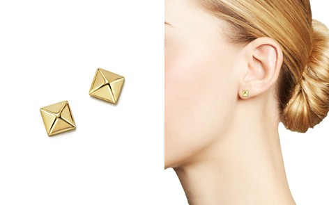 14K Yellow Gold Small Pyramid Post Earrings - 100% Exclusive - Bloomingdale's_2