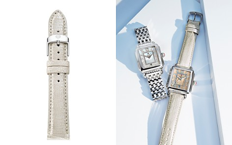 MICHELE Metallic Leather Strap, 18mm - Bloomingdale's_2