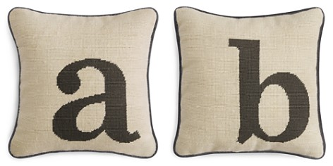 "Sparrow & Wren Letter Needlepoint Decorative Pillow, 12"" x 12"" - 100% Exclusive - Bloomingdale's_2"