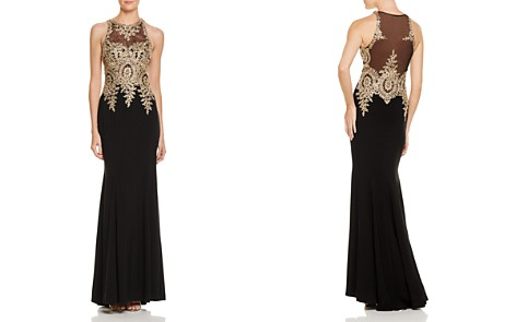 Avery G Embroidered-Bodice Gown - Bloomingdale's_2