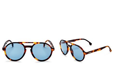 Carrera Double Bridge Round Aviator Sunglasses, 58mm - Bloomingdale's_2