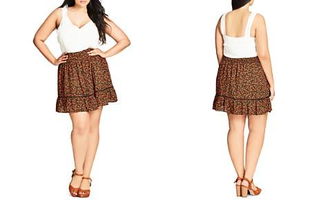 City Chic Floral Print Skirt - Bloomingdale's_2