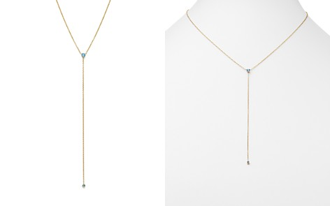 "Zoë Chicco 14K Yellow Gold and Aquamarine Y Necklace, 18"" - 100% Exclusive - Bloomingdale's_2"