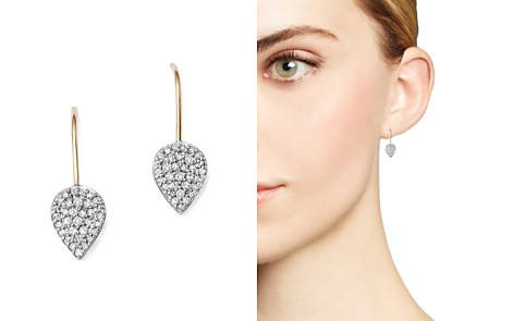 Adina Reyter Sterling Silver and 14K Yellow Gold Pavé Diamond Teardrop Earrings - Bloomingdale's_2