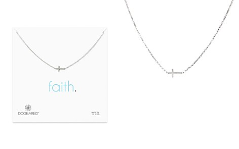 "Dogeared Sterling Silver Whisper Cross Necklace, 16"" - Bloomingdale's_2"