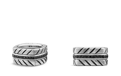 David Yurman Chevron Stack Ring with Black Diamonds - Bloomingdale's_2