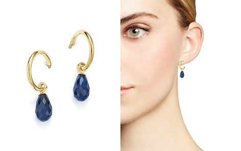 Bloomingdale's Gemstone Briolette Hoop Drop Earrings in 14K Yellow Gold - 100% Exclusive_2