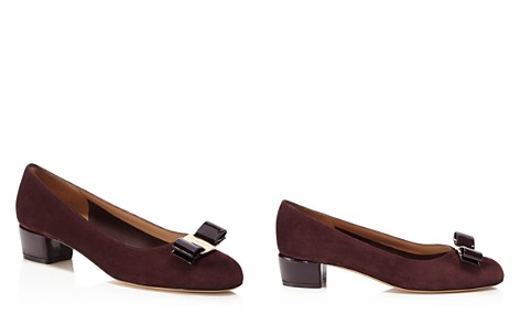 Salvatore Ferragamo Vara Suede and Patent Leather Pumps - Bloomingdale's_2