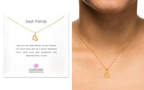 "Dogeared Best Friends Loving Heart Pendant Necklace, 16"" - Bloomingdale's_2"