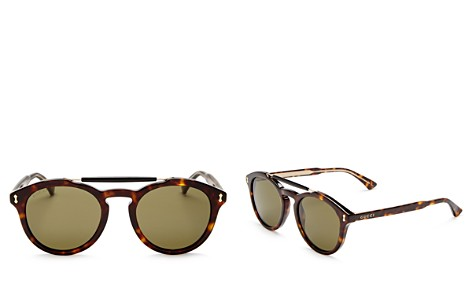 Gucci Women's Vintage Pilot Brow Bar Round Sunglasses, 48mm - Bloomingdale's_2