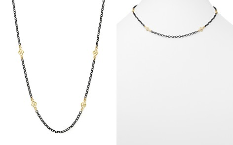 """Armenta 18K Yellow Gold and Blackened Sterling Silver Old World Cable Chain Necklace, 18"""" - Bloomingdale's_2"""
