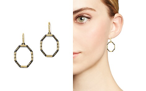 Armenta 18K Yellow Gold and Blackened Sterling Silver Old World Diamond Octagon Drop Earrings - Bloomingdale's_2