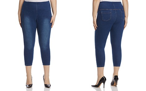 Lyssé Plus Pull-On Toothpick Crop Jeans in Indigo - Bloomingdale's_2