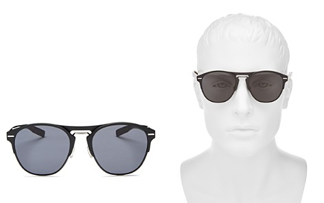 Dior Homme Men's Diorchrome Brow Bar Round Sunglasses, 51mm - Bloomingdale's_2