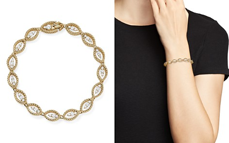 Roberto Coin 18K White and Yellow Gold New Barocco Diamond Bracelet - Bloomingdale's_2