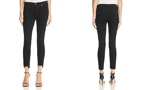 7 For All Mankind Ankle Skinny Jeans in Overdyed Black – 100% Exclusive - Bloomingdale's_2