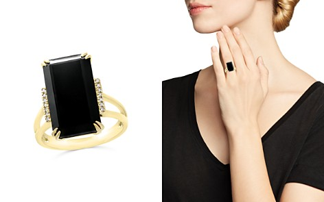 Black Onyx and Diamond Statement Ring in 14K Yellow Gold - 100% Exclusive - Bloomingdale's_2