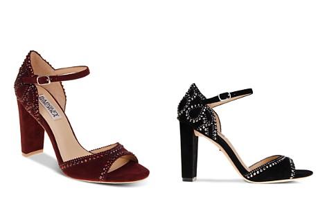 Badgley Mischka Kelly Embellished Suede High-Heel Sandals - Bloomingdale's_2