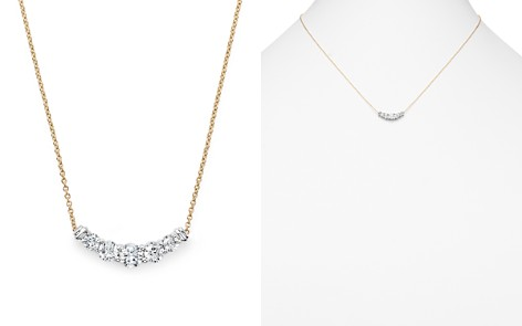 Diamond Graduated Pendant Necklace in 14K Yellow Gold, .50 ct. t.w. - 100% Exclusive - Bloomingdale's_2