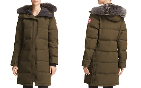 Canada Goose Shelburne Gray Fur-Trim Parka Down Coat - 100% Exclusive - Bloomingdale's_2