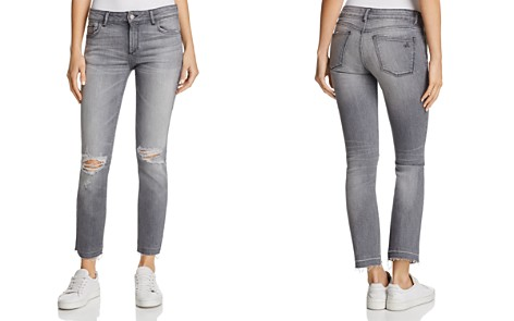 DL1961 Mara Distressed Straight-Leg Jeans in Shade - 100% Exclusive - Bloomingdale's_2