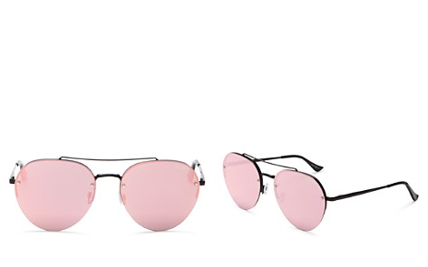 Quay Somerset Mirrored Aviator Sunglasses, 64mm - Bloomingdale's_2