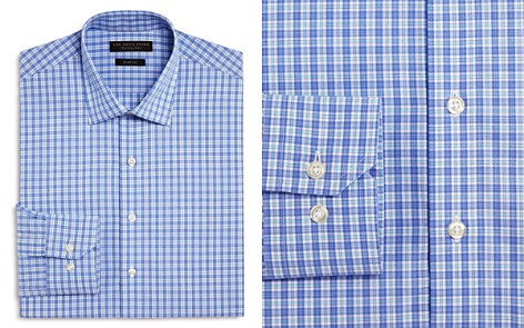 The Men's Store at Bloomingdale's Small Plaid Check Slim Fit Dress Shirt - 100% Exclusive_2