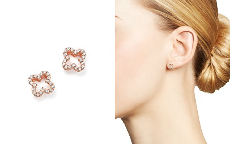 Diamond Clover Stud Earrings in 14K Rose Gold, .20 ct. t.w. - 100% Exclusive - Bloomingdale's_2