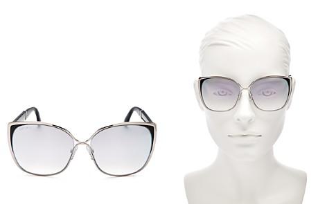 Jimmy Choo Matys Mirrored Square Sunglasses, 59mm - Bloomingdale's_2