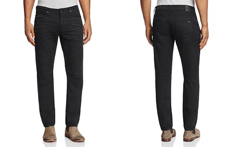 Hudson Blinder Biker Super Slim Fit Jeans in Blacklight - Bloomingdale's_2